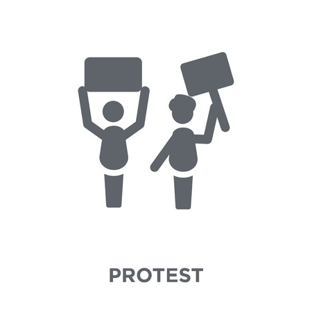 Protest icon. Protest design concept from  collection. Simple element vector illustration on white background. Illustration
