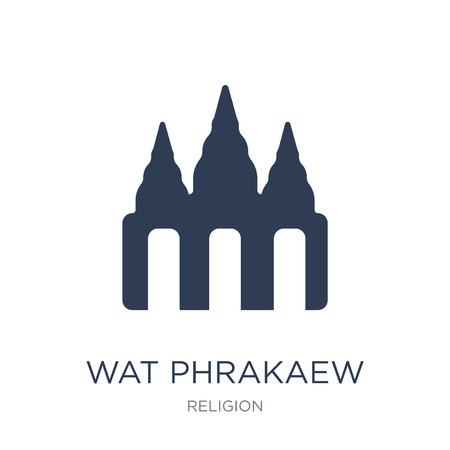 Wat phrakaew icon. Trendy flat vector Wat phrakaew icon on white background from Religion collection, vector illustration can be use for web and mobile, eps10