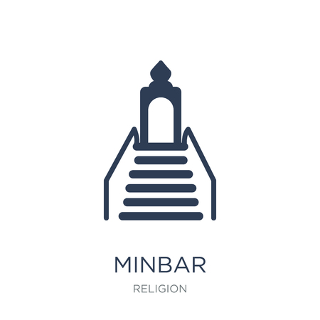 Minbar icon. Trendy flat vector Minbar icon on white background from Religion collection, vector illustration can be use for web and mobile, eps10