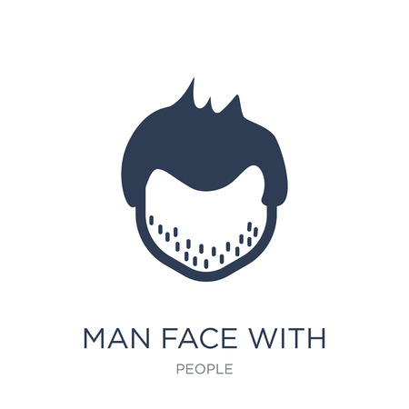 Man face with spiky hair icon. Trendy flat vector Man face with spiky hair icon on white background from People collection, vector illustration can be use for web and mobile, eps10