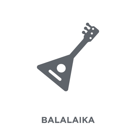 Balalaika-Symbol. Balalaika-Designkonzept aus der Musiksammlung. Einfache Elementvektorillustration auf weißem Hintergrund. Vektorgrafik