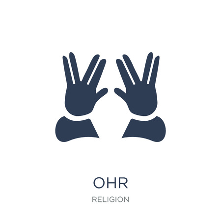 Ohr icon. Trendy flat vector Ohr icon on white background from Religion collection, vector illustration can be use for web and mobile, eps10 Stock Illustratie
