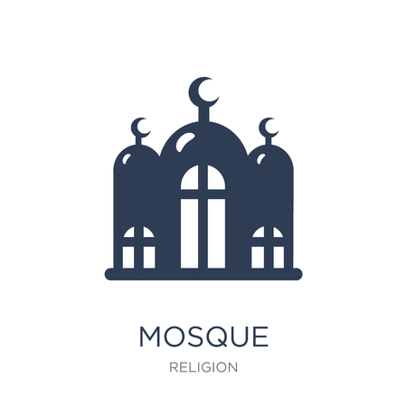 Mosque icon. Trendy flat vector Mosque icon on white background from Religion collection, vector illustration can be use for web and mobile, eps10 일러스트