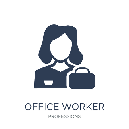 Office worker icon. Trendy flat vector Office worker icon on white background from Professions collection, vector illustration can be use for web and mobile, eps10