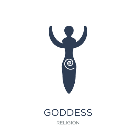 Goddess icon. Trendy flat vector Goddess icon on white background from Religion collection, vector illustration can be use for web and mobile, eps10 Ilustração