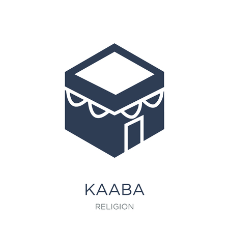 Kaaba icon. Trendy flat vector Kaaba icon on white background from Religion collection, vector illustration can be use for web and mobile, eps10
