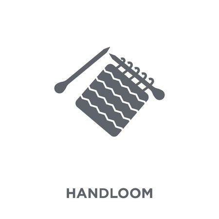 handloom icon. handloom design concept from Sew collection. Simple element vector illustration on white background. Standard-Bild - 112320659