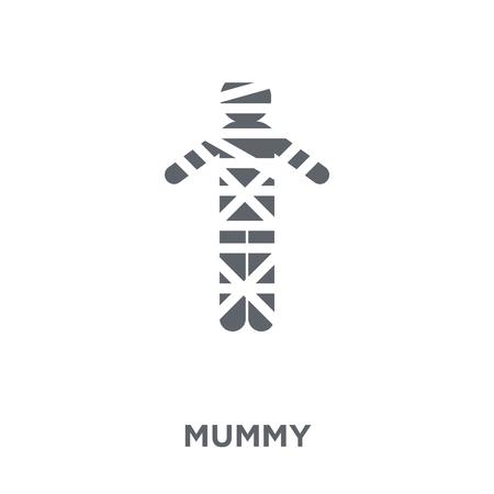 Icône de la momie. Concept de design de momie de la collection. Illustration vectorielle élément simple sur fond blanc.