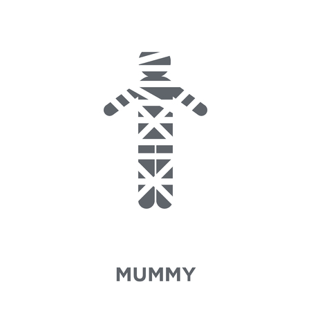 Mummy icon. Mummy design concept from  collection. Simple element vector illustration on white background.