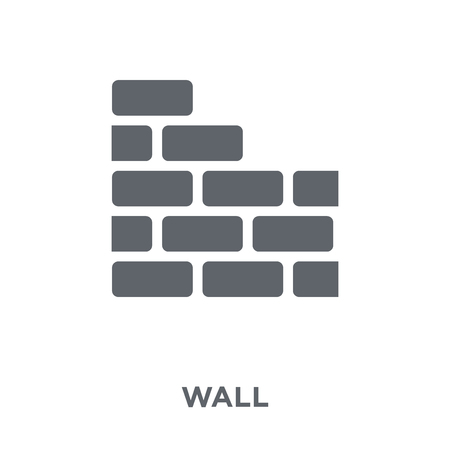 Wall icon. Wall design concept from Real estate collection. Simple element vector illustration on white background. Illustration