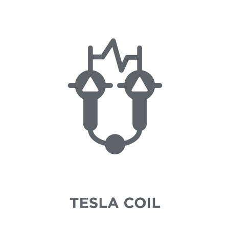 Tesla coil icon. Tesla coil design concept from Science collection. Simple element vector illustration on white background.
