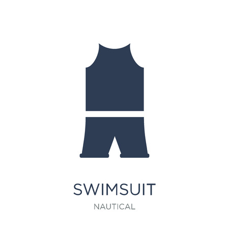 Swimsuit icon. Trendy flat vector Swimsuit icon on white background from Nautical collection, vector illustration can be use for web and mobile, eps10