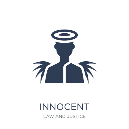 Icono inocente. Icono de inocente moda vector plano sobre fondo blanco de la colección de ley y justicia, Ilustración de vectores se puede utilizar para web y móvil, eps10