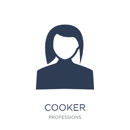 Cooker icon. Trendy flat vector Cooker icon on white background from Professions collection, vector illustration can be use for web and mobile, eps10