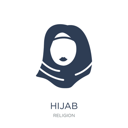 Hijab icon. Trendy flat vector Hijab icon on white background from Religion collection, vector illustration can be use for web and mobile, eps10
