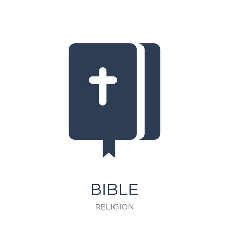 Bible icon. Trendy flat vector Bible icon on white background from Religion collection, vector illustration can be use for web and mobile, eps10