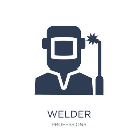 Schweißer-Symbol. Trendiges flaches Vektor-Schweißer-Symbol auf weißem Hintergrund aus der Berufssammlung, Vektorillustration kann für Web und Mobile verwendet werden, eps10