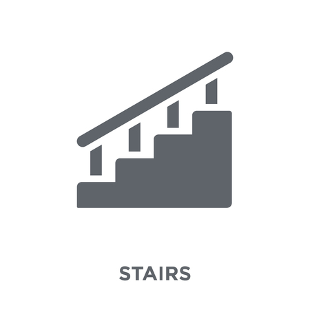 Stairs icon. Stairs design concept from  collection. Simple element vector illustration on white background. Illustration