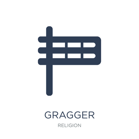Gragger icon. Trendy flat vector Gragger icon on white background from Religion collection, vector illustration can be use for web and mobile, eps10 Illustration