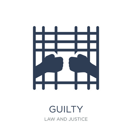 Guilty icon. Trendy flat vector Guilty icon on white background from law and justice collection, vector illustration can be use for web and mobile, eps10