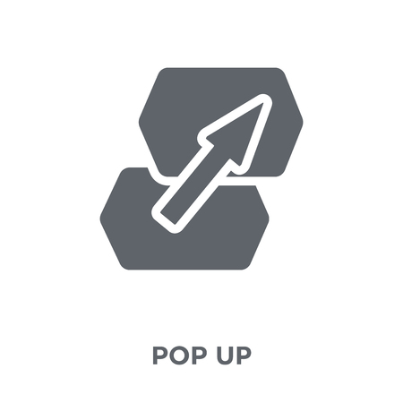 Pop up icon. Pop up design concept from Marketing collection. Simple element vector illustration on white background.