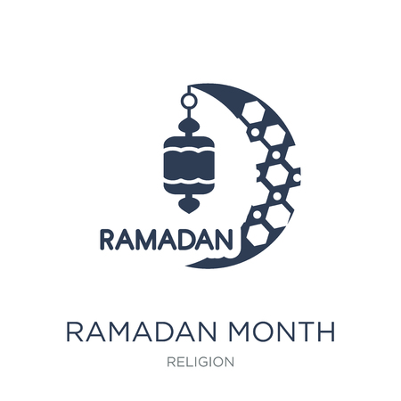 Ramadan Month icon. Trendy flat vector Ramadan Month icon on white background from Religion collection, vector illustration can be use for web and mobile, eps10