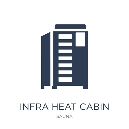 Infrared heat cabin icon. Trendy flat vector Infrared heat cabin icon on white background from sauna collection, vector illustration can be use for web and mobile, eps10