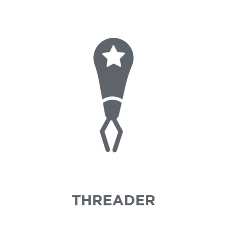 Threader icon. Threader design concept from Sew collection. Simple element vector illustration on white background. Иллюстрация