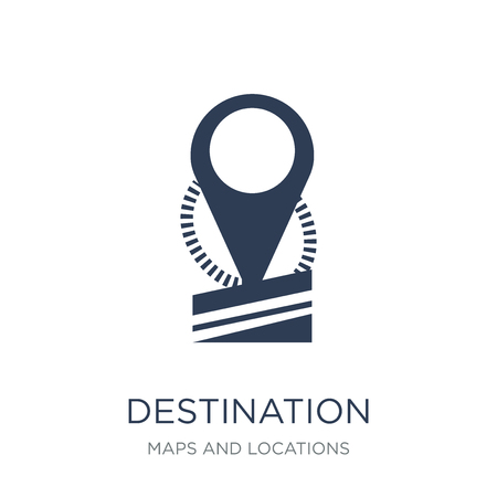 Destination icon. Trendy flat vector Destination icon on white background from Maps and Locations collection, vector illustration can be use for web and mobile, eps10