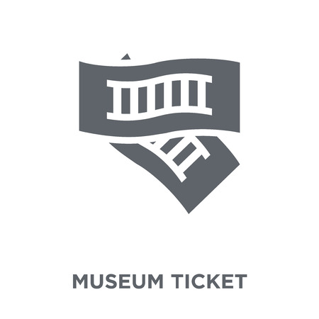 museum Ticket icon. museum Ticket design concept from Museum collection. Simple element vector illustration on white background.