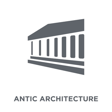 antic Architecture icon. antic Architecture design concept from Museum collection. Simple element vector illustration on white background. Çizim