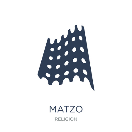 Matzo icon. Trendy flat vector Matzo icon on white background from Religion collection, vector illustration can be use for web and mobile, eps10 Stock Vector - 112320805