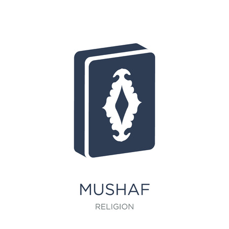 Mushaf icon. Trendy flat vector Mushaf icon on white background from Religion collection, vector illustration can be use for web and mobile, eps10
