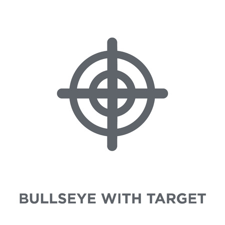 Bullseye with target symbol icon. Bullseye with target symbol design concept from Productivity collection. Simple element vector illustration on white background.