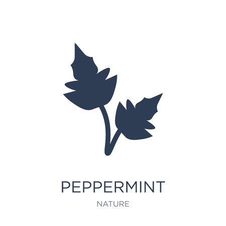 Peppermint icon. Trendy flat vector Peppermint icon on white background from nature collection, vector illustration can be use for web and mobile, eps10 Banco de Imagens - 112320806
