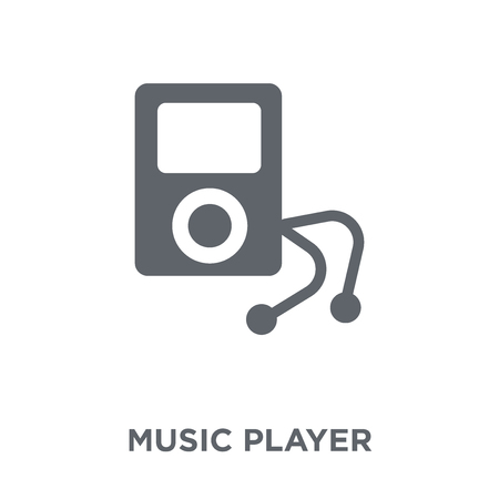 Music player icon. Music player design concept from  collection. Simple element vector illustration on white background. Ilustração