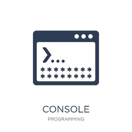 Console icon. Trendy flat vector Console icon on white background from Programming collection, vector illustration can be use for web and mobile, eps10