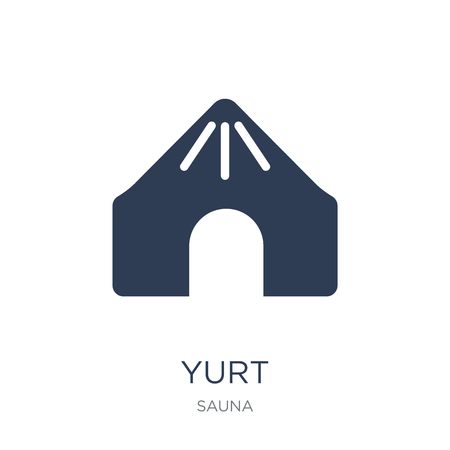 Yurt icon. Trendy flat vector Yurt icon on white background from sauna collection, vector illustration can be use for web and mobile, eps10