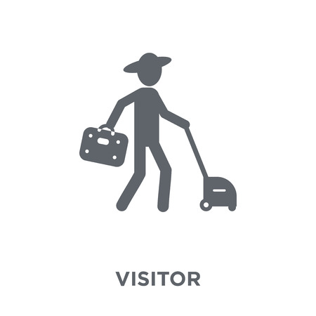 Visitor icon. Visitor design concept from  collection. Simple element vector illustration on white background. Stock Vector - 112320820