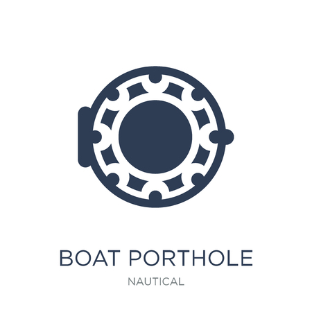 Boat Porthole icon. Trendy flat vector Boat Porthole icon on white background from Nautical collection, vector illustration can be use for web and mobile, eps10