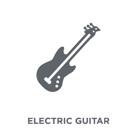 Electric guitar icon. Electric guitar design concept from  collection. Simple element vector illustration on white background.