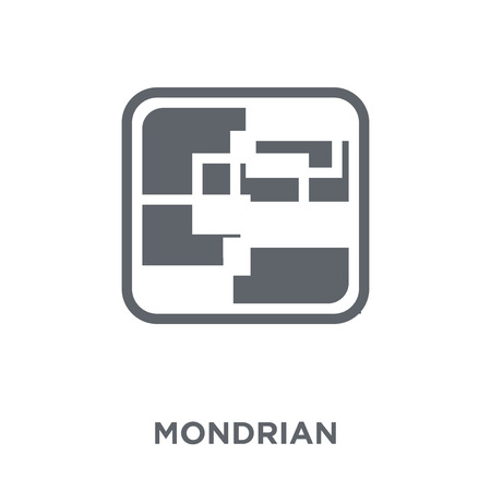 Mondrian icon. Mondrian design concept from Museum collection. Simple element vector illustration on white background.