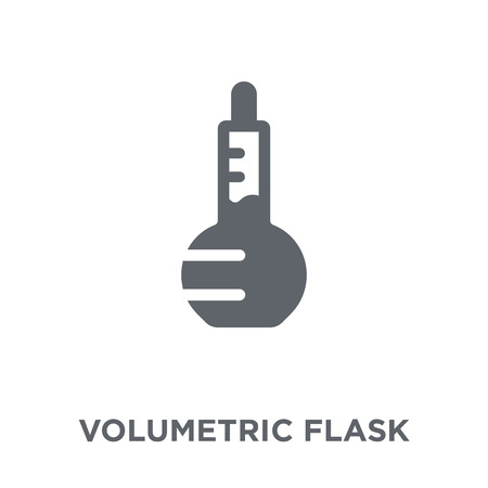 Volumetric flask icon. Volumetric flask design concept from Science collection. Simple element vector illustration on white background. Archivio Fotografico - 112320826