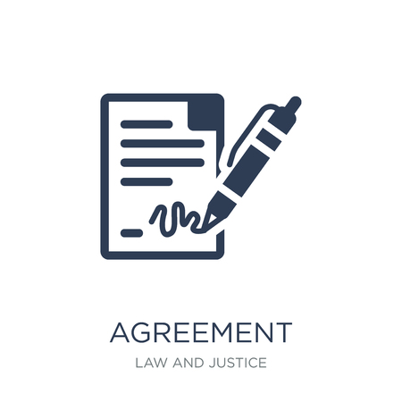 Agreement icon. Trendy flat vector Agreement icon on white background from law and justice collection, vector illustration can be use for web and mobile, eps10