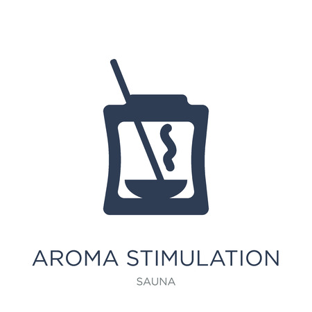 Aroma stimulation icon. Trendy flat vector Aroma stimulation icon on white background from sauna collection, vector illustration can be use for web and mobile, eps10 Illustration
