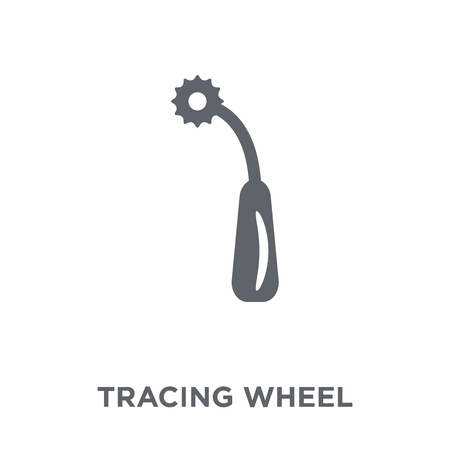Tracing wheel icon. Tracing wheel design concept from Sew collection. Simple element vector illustration on white background. Archivio Fotografico - 112320810