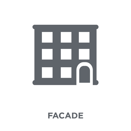 Facade icon. Facade design concept from Real estate collection. Simple element vector illustration on white background. Illustration