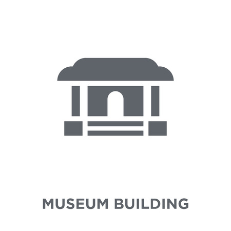 Museum building icon. Museum building design concept from Museum collection. Simple element vector illustration on white background.