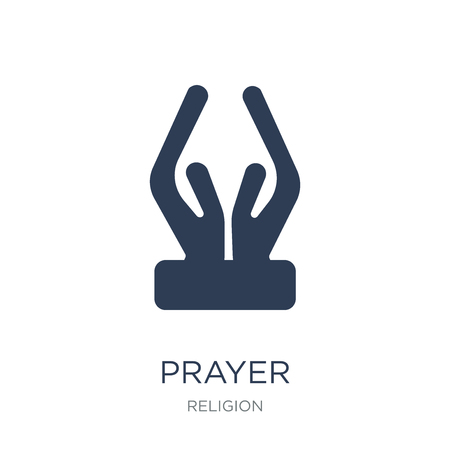 Prayer icon. Trendy flat vector Prayer icon on white background from Religion collection, vector illustration can be use for web and mobile, eps10