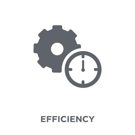 Effizienz-Symbol. Effizienz-Design-Konzept aus der Kollektion. Einfache Elementvektorillustration auf weißem Hintergrund. Vektorgrafik